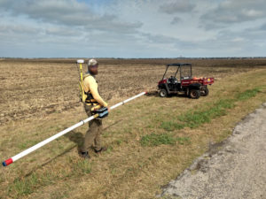 Mapping a farm field with a Geonics EM31.