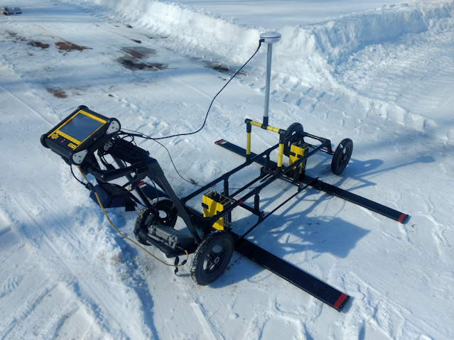 Sensors & Software pulseEKKO GPR with Ultra Receiver from K. D. Jones Instruments geophysical equipment rental.